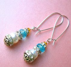 BIJOUTERIE STACK earrings on French wires. $12.00. http://www.etsy.com/listing/123050337/bijouterie-stack?#.