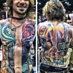This full torso Star Wars tattoo was spotted at the Star Wars Celebration convention