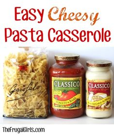 Easy Cheesy Pasta Casserole Recipe! ~ from TheFrugalGirls.com ~ this delicious comfort food dish comes together in a snap and makes a delicious dinner or Sunday afternoon lunch! #casseroles #recipes #thefrugalgirls