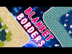 How to Crochet 2 Basic Blanket Borders - Granny Square Afghans! - YouTube