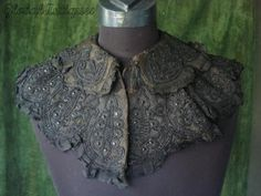 Lace collar. Would be fabulous with tatting.