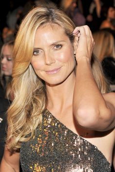 Heidi Klum at the Project Runway Spring 2014 fashion show.