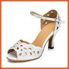 Women's Latin shoes/Adult dance shoes/Soft bottom/Diamonds/Square dancing shoes/Ballroom Dance Shoes-B Foot length=25.3CM(10Inch) - Athletic shoes for women (*Amazon Partner-Link)