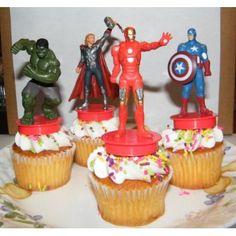 Marvel Avengers Movie Superhero Figure Cake Toppers Cupcake  cakepins.com