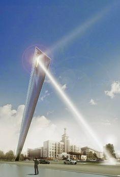 Eficiencia y arquitectura: Diseño de Monumento para Tianjin en China por por Rafael de La-Hoz. #arquitectura #diseño #monumento