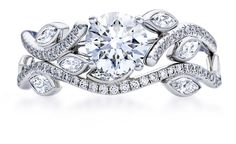 De Beers Adonis Rose, 1-carat centre Diamond not including Brilliant White Pave Diamonds and Marquise Shaped Diamonds