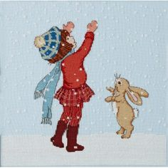 'Catching Snow' Cross Stitch Pattern
