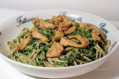 Špagety so špenátom a kuracím mäsom • recept • bonvivani.sk
