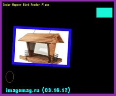 Cedar Hopper Bird Feeder Plans 095857 - The Best Image Search