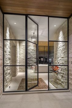 Creative Glass Door Ideas Designs For The Dynamic Modern Home Rehme Steel Windows & Doors Steel Windows, Windows And Doors, Iron Windows, Bay Windows, Design Exterior, Interior And Exterior, Interior Glass Doors, Double Doors Interior, Interior Windows