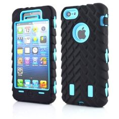 Angelina(TM) iPhone 5C Case Tire Durable Triple Layer Anti-Slip Rugged Armored Case Robot Series Armor Shockproof Dropproof Case Cover Compatible for iPhone 5C Light Blue: Amazon.co.uk: Electronics