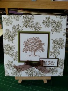 Made with stampin up set 'lovely as a tree'