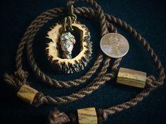 copper pendant/ black walnut jewelry/ wooden by OKAVARKpendants