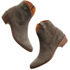 MADEWELL The Barnwood Boot ($198) ❤ liked on Polyvore featuring shoes, boots, ankle booties, ankle boots, golden spinach, madewell boots, ankle length boots, bootie boots and madewell booties