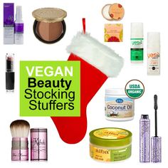 #Vegan Beauty Stocking Stuffers from Vegangel #Christmas Vegan Gluten Free, Vegan Vegetarian, Happy Vegan, Vegan Cuts, Beauty Without Cruelty, Vegan Christmas, Christmas Gifts, Vegan Products, Free Products