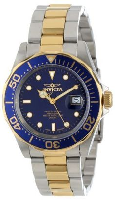 Invicta Men's Pro Diver Two Tone Analogue Watch 9310 with Stainless Steel Case, Blue Dial and Blue Bezel, http://www.amazon.co.uk/dp/B000CDL9IC/ref=cm_sw_r_pi_awdl_G3xmub1C235DQ