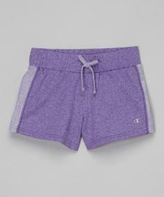 Loving this Champion Electric Purple Reverse Seam Shorts - Girls on #zulily! #zulilyfinds
