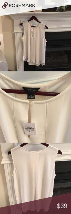 Ann Taylor blouse Cream pleated blouse. Beautiful! Ann Taylor Tops Blouses