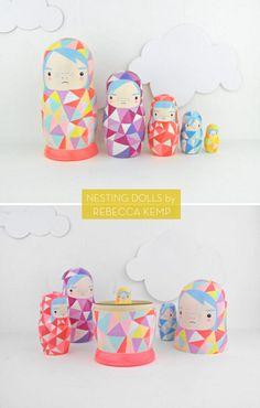 geometric nesting dolls