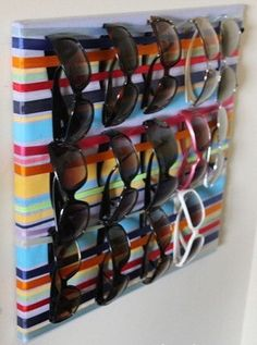 Organize that pile of sunglasses in a unique and colorful way! I can paint anything you would like; solid color, print, initial or monogram in the font of your choice, and am up to discussion for other ideas. Colors of paint and ribbon are your choice as well as size. Paint is