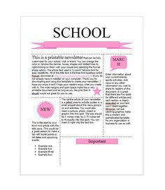 Awesome High School Newsletter Templates Images  Newsletter