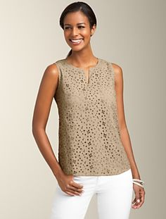 Eyelet top from Talbots