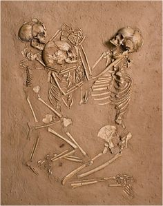 1st image ) A woman and 2 children laid to rest embracing on a bed of flowers 5,000 years ago  in what is now the barren Sahara Desert....