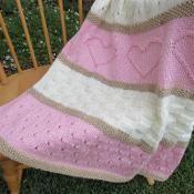 Baby Heart Blanket Pattern - via @Craftsy