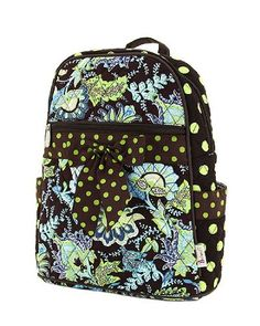 Belvah Quilted Floral Paisley Backpack Purse (Lime Brown). Details at http  e526d3b415