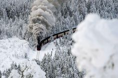 Another look at the Harz Narrow-Gauge Railways Train in Snowy Northern Germany