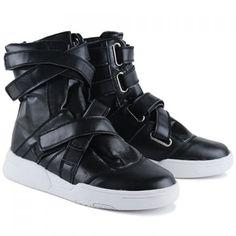 velcro strap boots