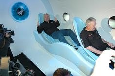 Aboard the Virgin Airlines space tourism flight