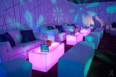 What better way to make your guests feel special than a VIP area, like at this psychedelic themed bat mitzvah?