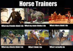 Horse Trainer Interpretations bahahaha what my mum thinks I do is the best