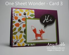 One sheet wonder, fall card, stampin up, color me autumn dsp