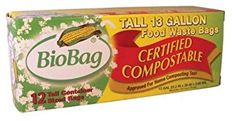 Case of BioBag 13 Gallon Tall Kitchen Bags / Food Waste Bag, Bags per Box (Total 144 Bags) Kitchen Waste, Kitchen Dining, Dining Room, Compost Bags, Bag Clips, Wholesale Bags, Food Waste, Biodegradable Products, Cool Things To Buy