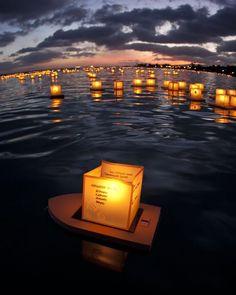 2012 Lantern Floating Ceremony  Photo Courtesy: Janelle Orth
