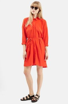 Topshop+Self+Tie+Shirtdress+available+at+#Nordstrom