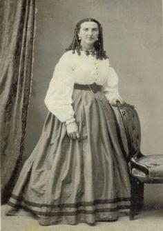 CDV waist civil war era fashion