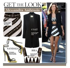 """Get The Look- Alessandra Ambrosio"" by kusja ❤ liked on Polyvore featuring FAUSTO PUGLISI, GetTheLook, AlessandraAmbrosio and celebstyle"