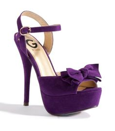 Purple High Heels With Bow | Tsaa Heel