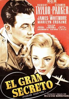 #AvobeAndBeyond / #ElGranSecreto. 1952, spanish movie poster,