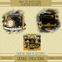 Denise Creationz: Only by Invitation Cluster Accents