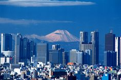 Mt. Fuji from Tokyo! Nothing stimulates the appetite like a grand view on a crisp autumn day!