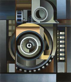 Edmund Lewandowski American, 1914 - 1998 Dynamo oil on canvas, 1948 Collages, Frantisek Kupka, Industrial Paintings, Mechanical Art, Contemporary Abstract Art, Color Of Life, Illustrations, American Art, Line Art