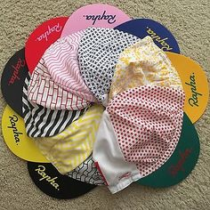 Rapha Cycling Caps Tour Of California 2015 Stages 1-8 Lot