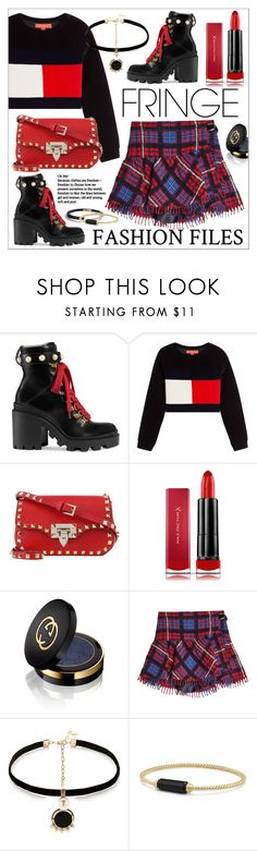 """Shimmy Shimmy * Fringe"" by calamity-jane-always ❤ liked on Polyvore featuring Gucci, Hilfiger Collection, Max Factor, Anton Heunis, David Yurman, fringe, valentino, davidyurman, gucci and fashionset"