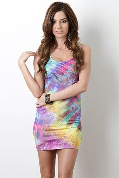 Vibrant Watercolor Dress $28.50