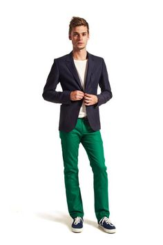 Green pants. I'd go for it.