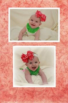 My favorite bows I made.. Initial bows for twin girls : )